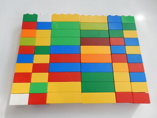 LEGO DUPLO 10 X 8er NOPPEN flache STEINE BAUSTEINE DUPLOSTEINE Bunt Platten